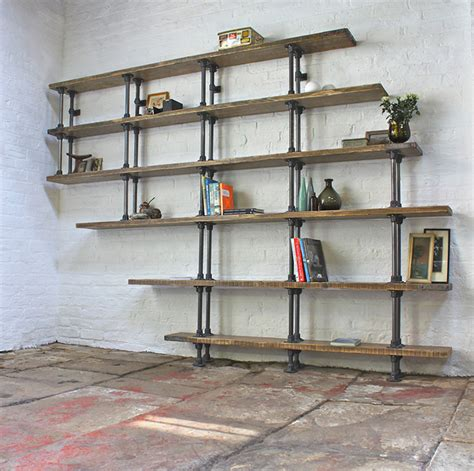 Pipe Bookcase steel pipe shelf bored panda