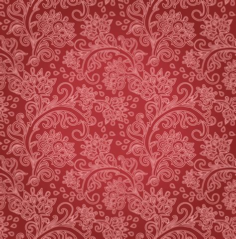 pattern vector motifs red flower motif pattern