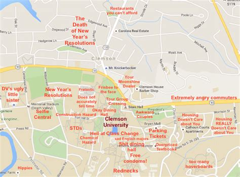 Create Resume Online by A Judgmental Map Of Clemson Sc