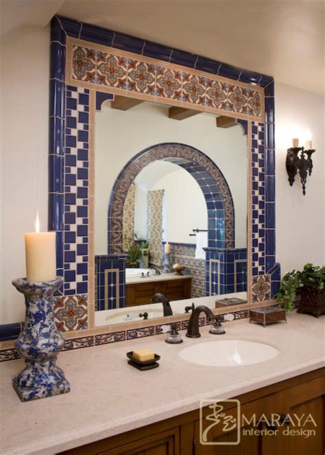 spanish tile bathroom ideas spanish tiled bath mediterranean bathroom santa