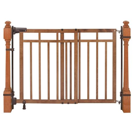 safety gate for top of stairs with banister summer infant 33 in h banister and stair gate with dual