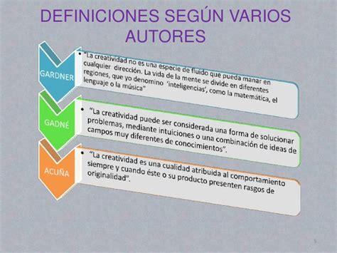 Diseño Curricular Definicion Segun Autores Creatividad