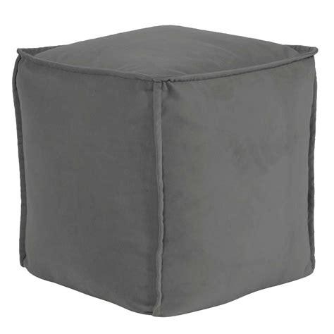 square pouf ottoman square pouf bella pewter howard elliott