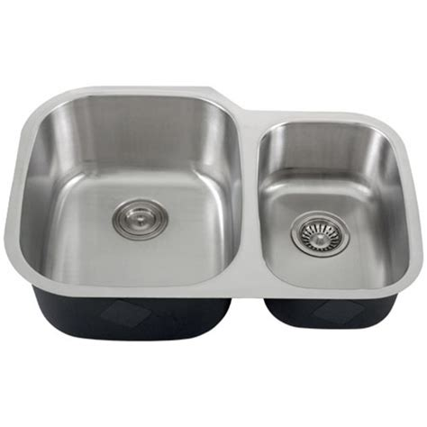Ticor S315 Undermount 16 G Stainless Steel Double Bowl Ticor Kitchen Sinks