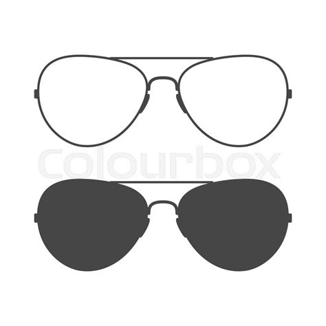 glasses vector aviator sunglasses sunglasses icon outline and solid