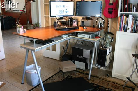 Ikea Galant Standing Desk Galant Stand Up Desk And Rationell Variera Monitor Stands Ikea Hackers Ikea Hackers