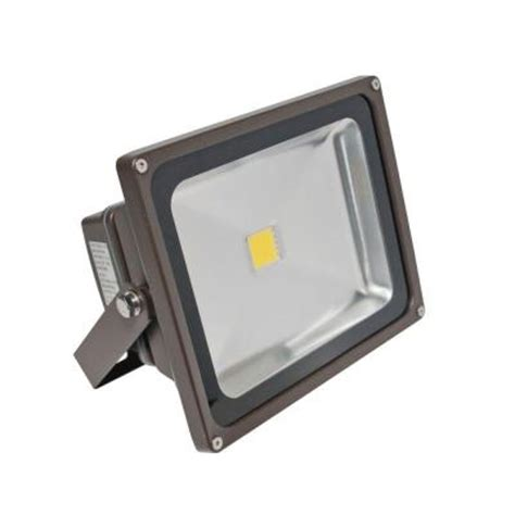 Outdoor Wall Mounted Flood Lights Irradiant 1 Bronze Led Day Light Outdoor Wall Mount Flood Light Fl 301 45 Db The Home Depot