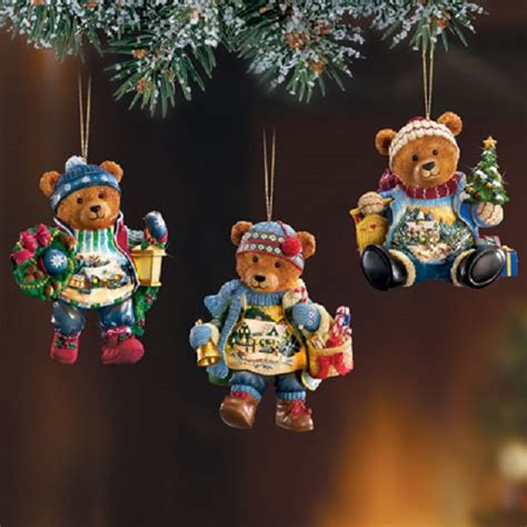 teddy ornaments kinkade teddy ornament set 1 at treasures