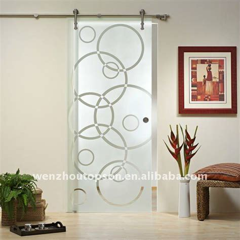 Frosted Glass Sliding Doors Interior Arc Frosted Glass Sliding Partition Interior Door Barn Door Hardware For Glass Door View Glass