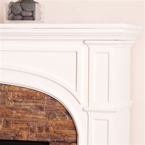 white stacked fireplace 45 75 quot tanaya stacked effect electric fireplace