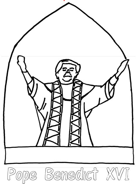 pope hat coloring page pope benedict xvi coloring page color book