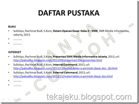 penulisan daftar pustaka skripsi internet bahasa indonesia 2 quot tugas 4 daftar pustaka quot berbagi pengetahuan