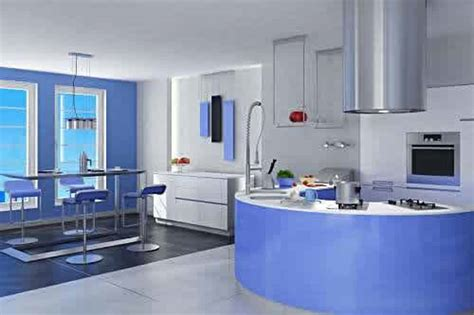 Blue Kitchens by Furniture Decoration Ideas Kitchen Cabinets Blue Paint