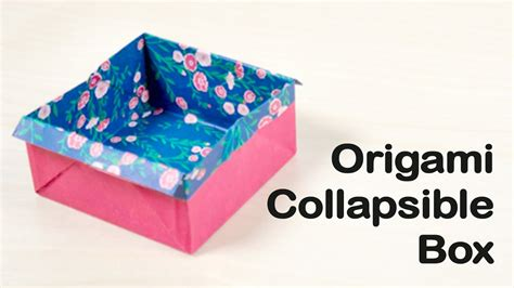 origami collapsible box collapsible origami box image collections craft