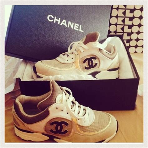 Brand New Chanel Espa Shoes 22 chanel shoes sold on ebay brand new 2013 chanel tennis sneakers from fashionlover s