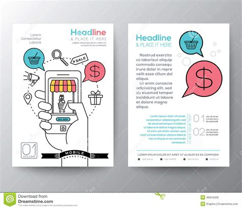 digital flyer templates marketing brochure templates set 1