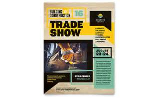 Construction Flyer Templates by Builder S Trade Show Flyer Template Design