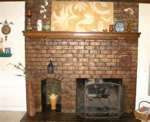 kamine gemauert a glazed brick fireplace tuscan decorating ideas