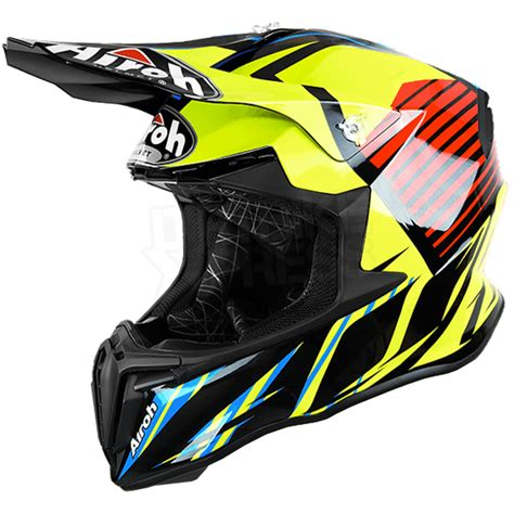 motocross helmets uk 2017 airoh twist helmet strange blue dirtbikexpress