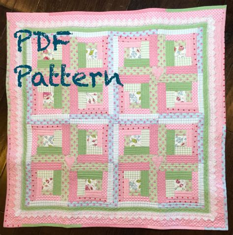 quilt pattern for baby girl chic baby girl quilt pattern log cabin quilt pattern