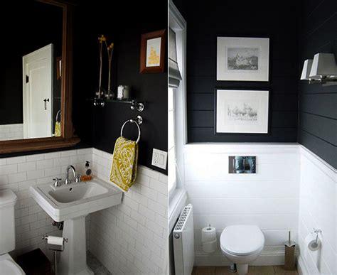 Kleines Badezimmer Streichen Ideen schwarze w 228 nde 48 wohnideen f 252 r moderne raumgestaltung