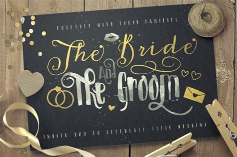 Wedding Font Pack by Just Married Wedding Pack Font Bundle Ifonts Xyz