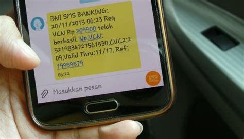 format cek mutasi sms banking bni format transfer sms banking bank bni lengkap