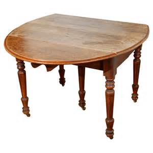 Oval Drop Leaf Table Fantastic 19thc Early Walnut Oval Drop Leaf Table W Turnlegs At 1stdibs