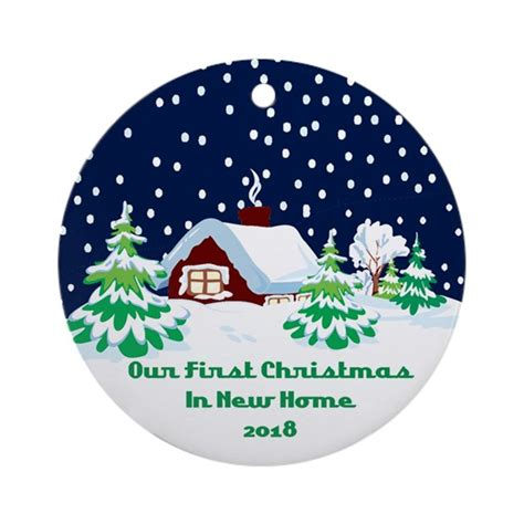 first christmas in new home ornament 2018 by sparetimedesign