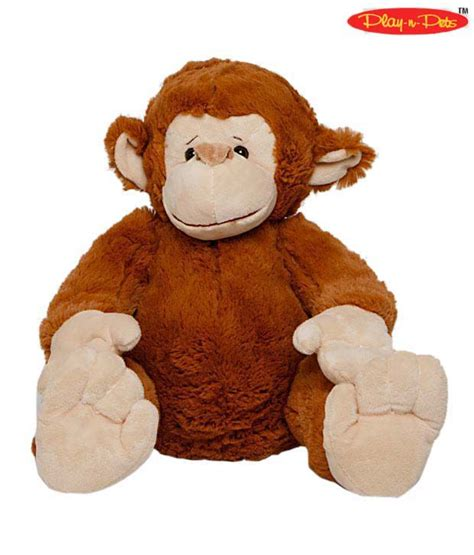 play n pets large brown monkey soft toy buy play n pets