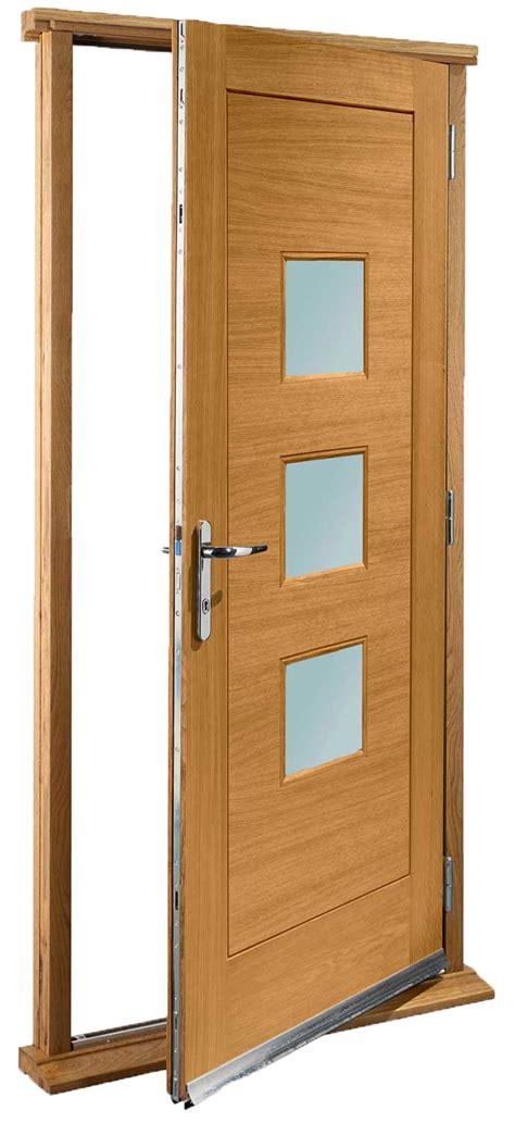 Pre Hung Doors Turin Glazed Pre Finished Oak Pre Hung Door Set