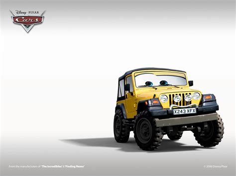 Jeep Character Turn Your Jeep Into A Pixar Cars Jeep