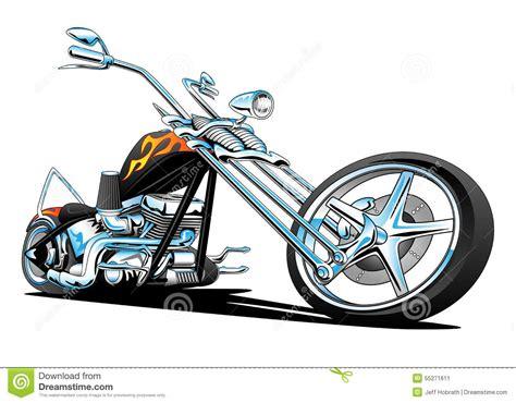 custom american chopper motorcycle color stock illustration image 55271611