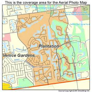 aerial photography map of plantation fl florida
