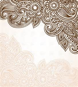 mehndi style background with floral ornament vector image