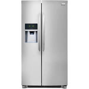 home depot refrigerator frigidaire gallery 25 6 cu ft side by side refrigerator