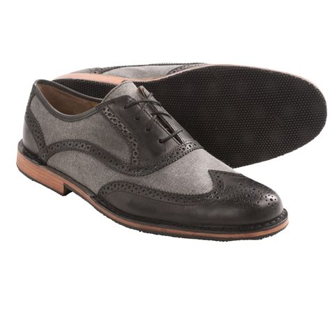 sebago brattle wingtip shoes leather canvas for in
