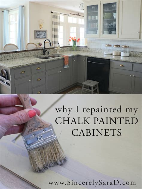 why i repainted my chalk painted cabinets sincerely d