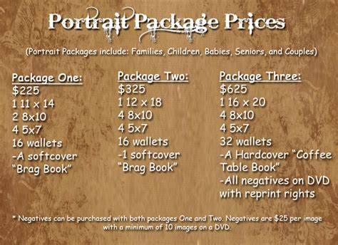 Portrait Photography Pricing by Senior Portrait Pricing Davis Creative Photography