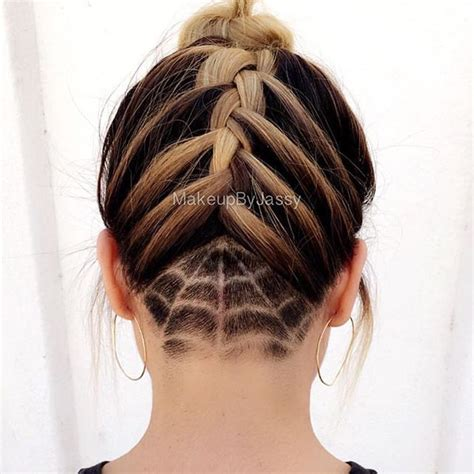 halloween haircut designs nape undercut triangle designs