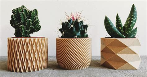 Design Planters by These Biodegradable Planters Are Made From 3d Printed Wood