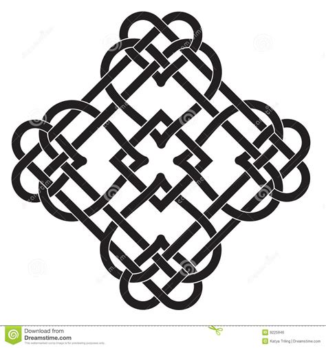 Illustrasi Frame celtic knot motif royalty free stock image image 9225946