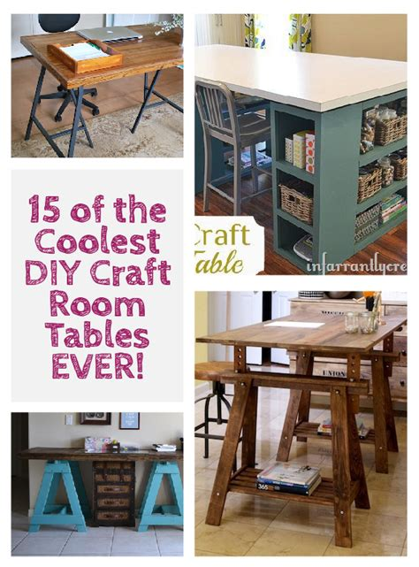 diy craft room table 15 of the coolest diy craft room tables