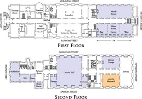 lincoln memorial floor plan the union league of philadelphia event planning floor plans