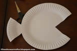 tropical paper plate fish craft glued to my crafts