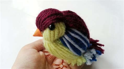 how to create a cute yarn bird diy crafts tutorial