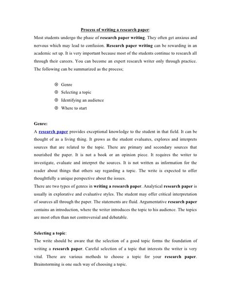 process of writing a research paper process of writing a research paper