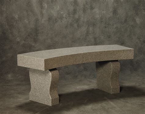 granite benches roquemore marble and granite curved bench