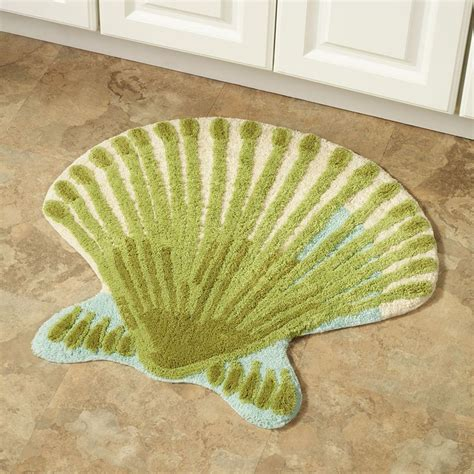 Shell Rugs by Coral Scallop Shell Bath Rug By Croscill