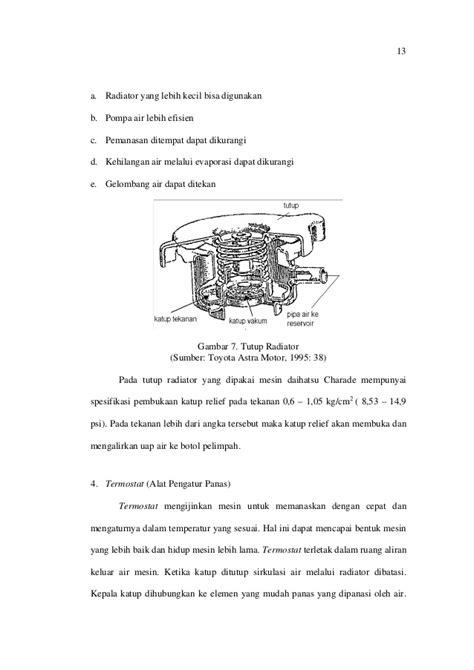 Botol Radiator gangguan pada sistem pendingin